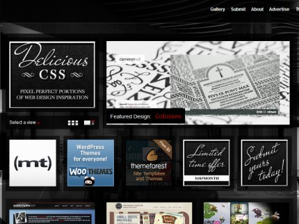deliciouscss homepage