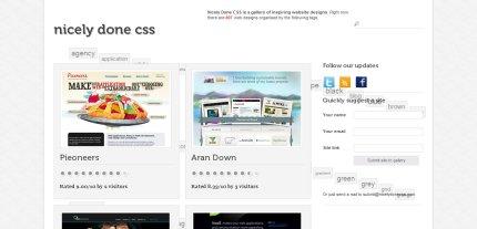 nicelydonecss homepage
