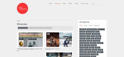 siteinspire homepage