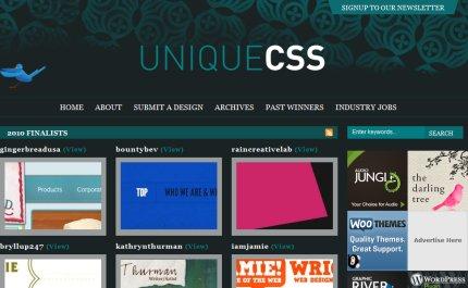 uniquecss homepage
