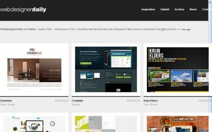 webdesignerdaily homepage