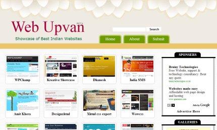 webupvan homepage