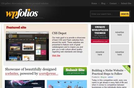 wpfolios homepage