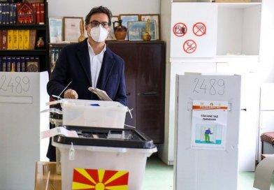 Изјава на претседателот Пендаровски по гласањето на првиот круг од локалните избори 2021