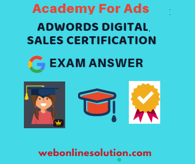 Google AdWords Digital Sales Certification Exam Answer
