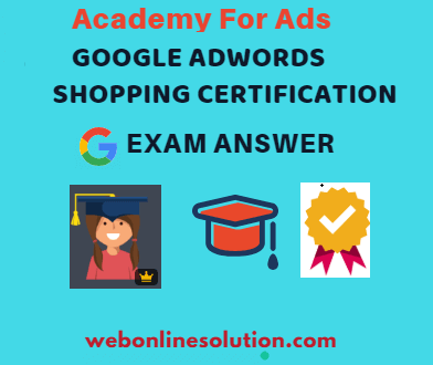 Google AdWords Shopping Certification Exam Answer