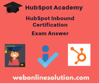 HubSpot Inbound Certification Exam Answer Sheet