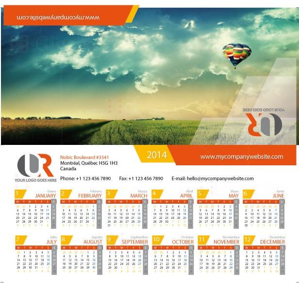 2014, 2015, 2016 DESK FULL calendar
