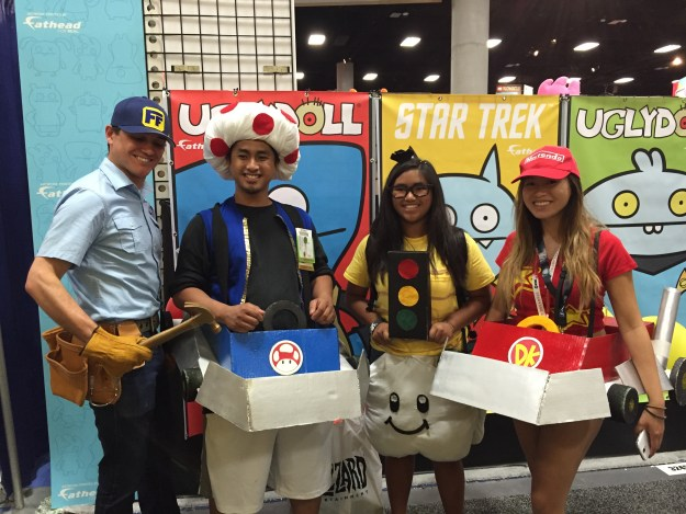 Fix-It Felix, Jr. at SDCC 2015 with Mario Kart