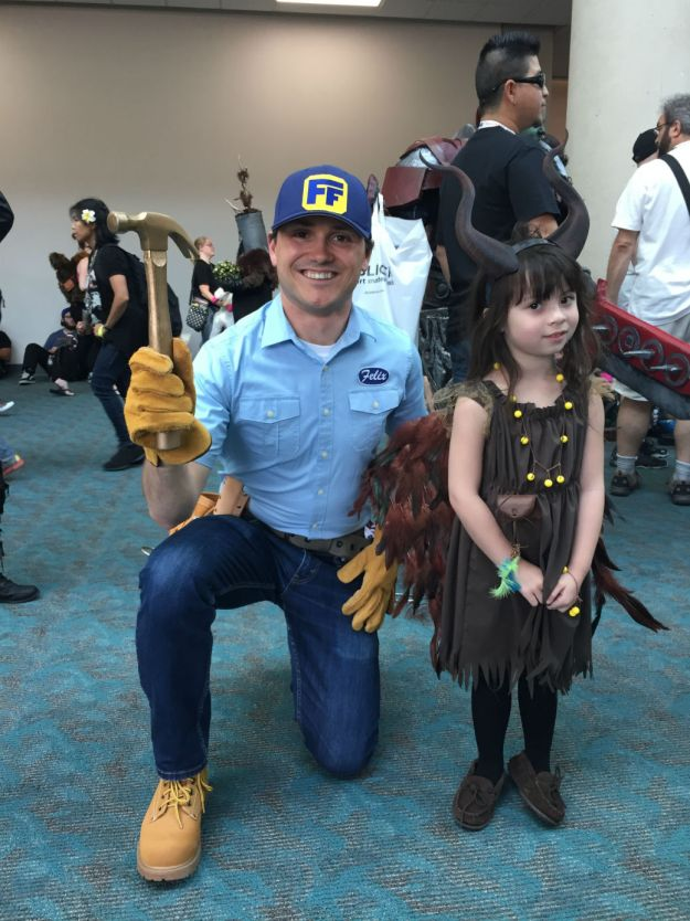 Fix-It Felix, Jr. at SDCC 2015 with Maleficent