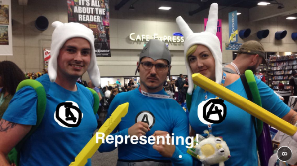 Aquabat, Finn, and Fionna at SDCC 2015