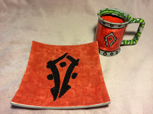 Horde plate and stein