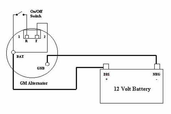 1 Wire Alternator Diagram: Wiring Diagram For 3 Wire Gm Alternator u2013 powerking.co,Design