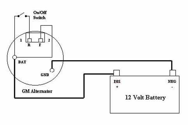 wiredia2?resize=603%2C403 basic gm alternator wiring diagram wiring diagram basic gm alternator wiring at n-0.co