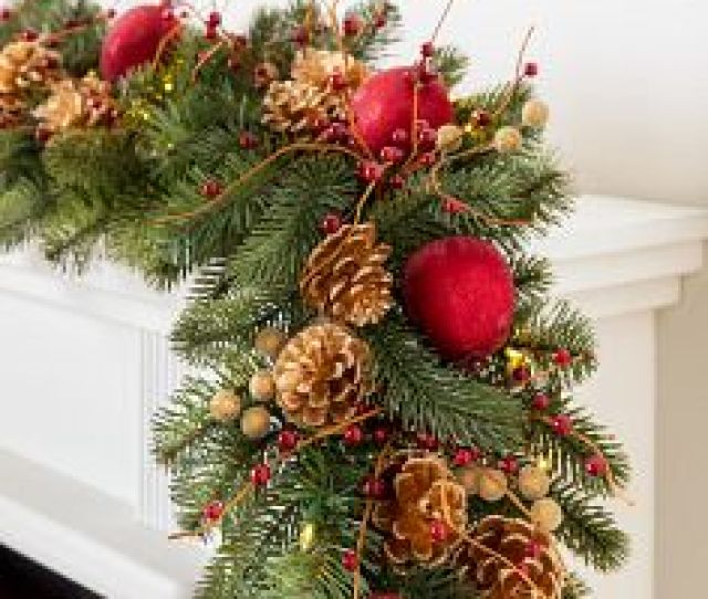 Vermont White Spruce Bordeaux Garland By Balsam Hill