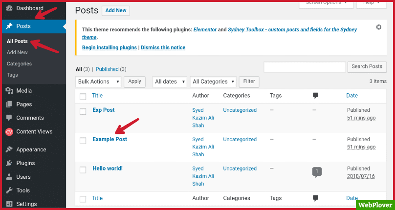 find post id in wordpress