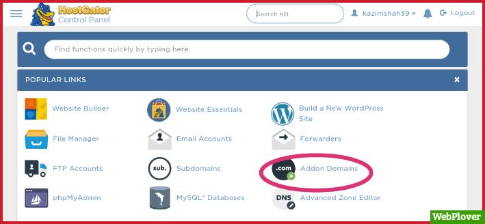 Add Domain To HostGator