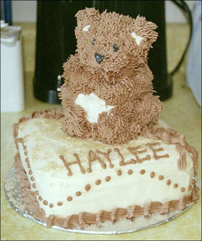fuzzy brown teddy bear cake