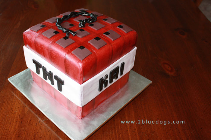 Minecraft Tnt Birthday Cake Cupcakes With Toppers Moxie Blue