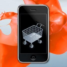 carrito de la compra en un teléfono móvil