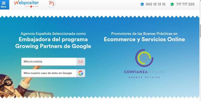 Sello de Confianza Online Web de Webpositer