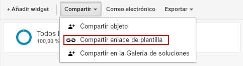 Creación de plantilla a partir de panel de Google Analytics ya existente