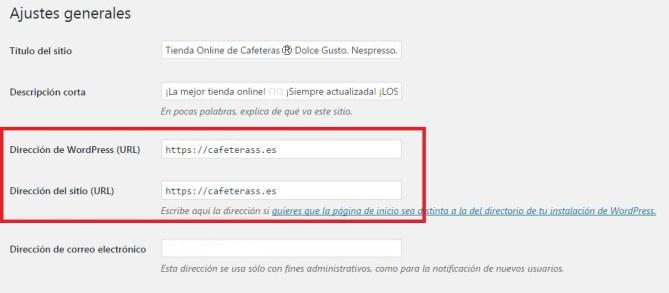 Instalación de certificados SSL en WordPress
