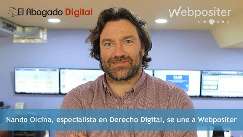 Nando Olcina, abogado especialista en Derecho Digital en Webpositer