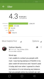 filter app reviews on play store