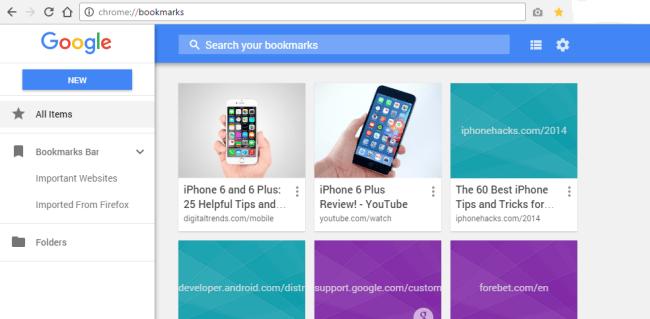 google chrome bookmarks 3