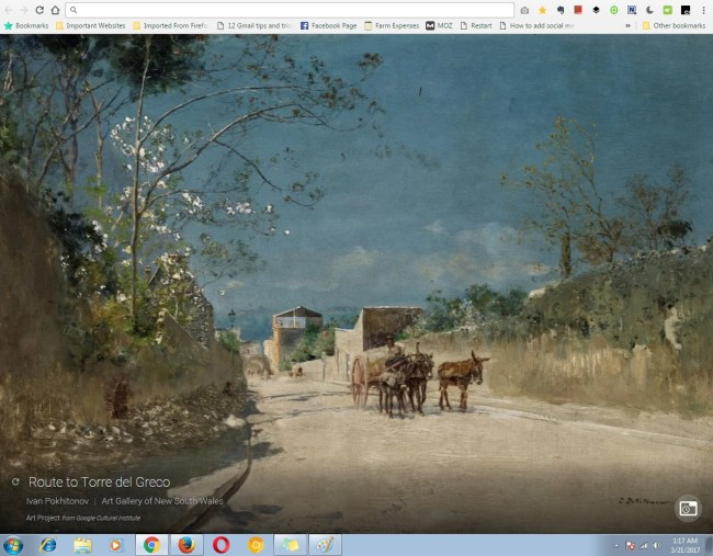 famous paintings in your chrome browser