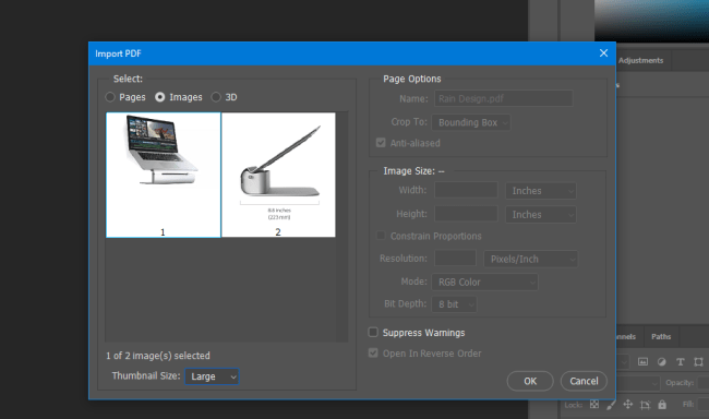extract images from pdf with photoshop