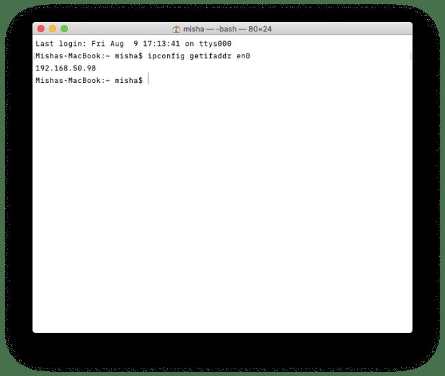 ip address on mac