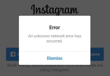how to fix an instagram unknown network error