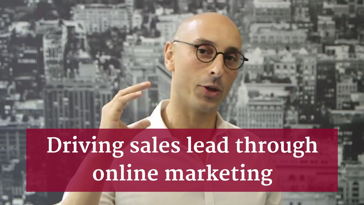 Driving sales lead through online marketing