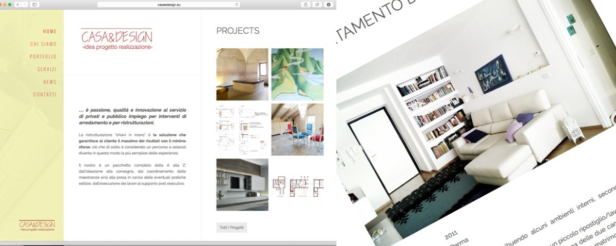 Casa design grafica e siti web parma for Siti design casa