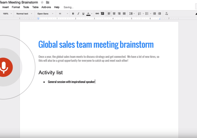 Google Docs Now Lets You Be More Productive With Just Your Voice