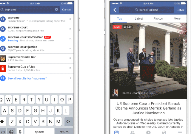 Facebook Makes Searching for Videos Easier