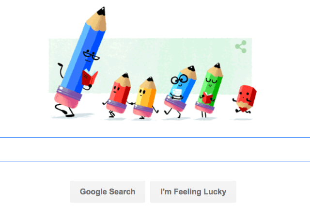 Google Celebrates Teachers' Day with Google Doodle