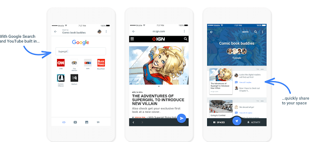 "Google Launches New App Called ""Spaces"" To Improve Sharing"