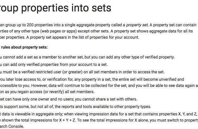 Google Search Console Introduces 'Property Sets'