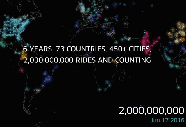 Uber Hits 2 Billion Rides Milestone