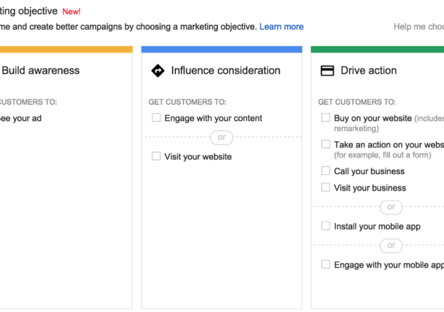 Google Makes It Easier To Run Display Campaigns Based On Objective