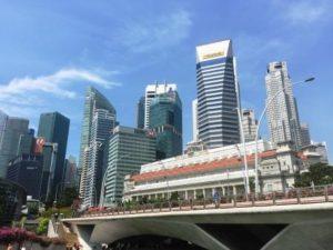 シンガポール街並み