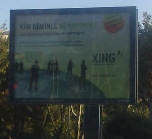 İstanbul, Yıldız'daki Xing Billboard reklamı