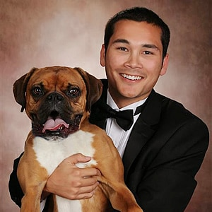 Kyle Goguen and his dog Tyson