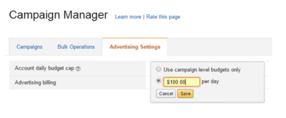 Amazon Sponsored Products Campaign Manager