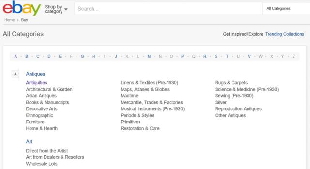 eBay Categories
