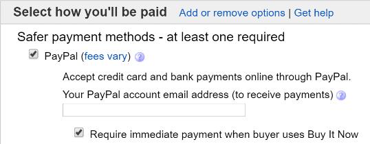 eBay Immediate Payment