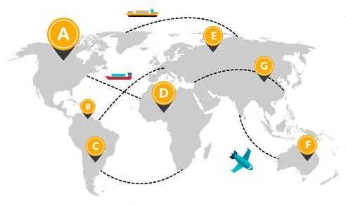 Shipping Chart Illustration